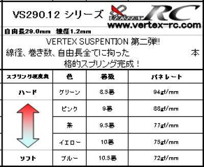 画像1: 【VERTEX-RC】SUSPENTION 線径1.2mm 自由長29mm(2本入り)