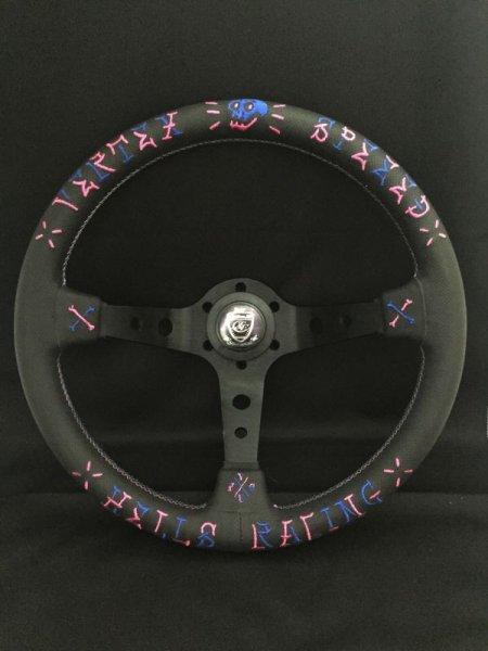 画像1: VERTEX STEERING「VERTEX SPEED」350mmΦ Designed by JUN WATANABE (1)