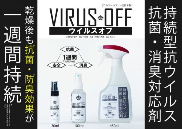 画像1: [ウイルスオフ]持続型抗ウイルス・抗菌・消臭対応剤 (1)