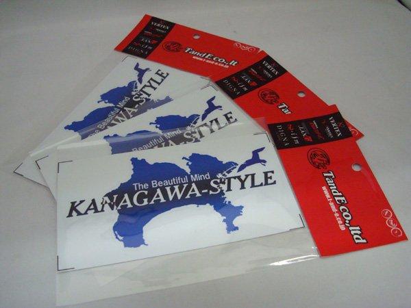 画像1: KANAGAWA-STYLE/神奈川スタイルステッカー ブルー (1)