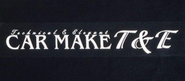 画像1: [CAR MAKE T&E]ステッカー (1)