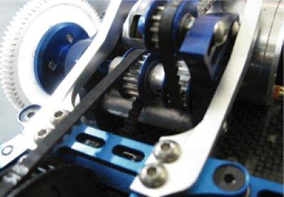 画像1: 【VERTEX】大型スパー対応ベルトテンショナー調整式センターバルクヘッド・モーターマウント for DRB